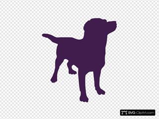 Purpledog Silhouette