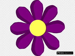 Purple Spring Flower Clipart