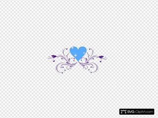 Purple Butterfly Scroll