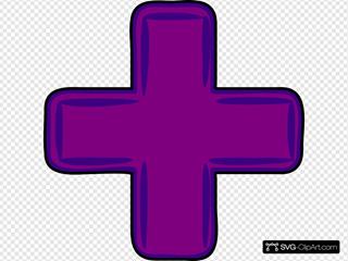 Purple Plus Cross