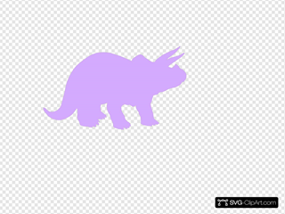 Lavender Triceratops