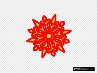 Snowflake Red N Green