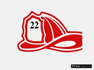 Red Fireman Helmet 22