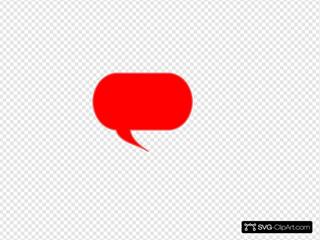 Red Talk Bubble