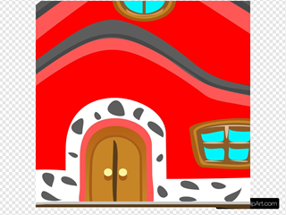 Casa Vermelha Red House SVG Clipart