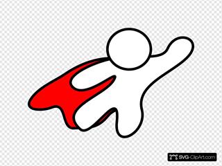 Super Hero Red Cape