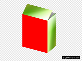 Red Green Cereal Box Clipart
