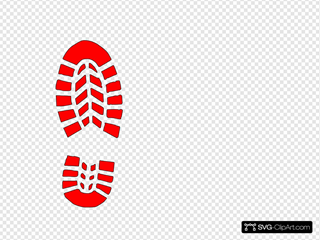 Red Boot Print