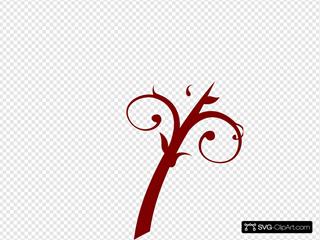 Branch Swirl Red