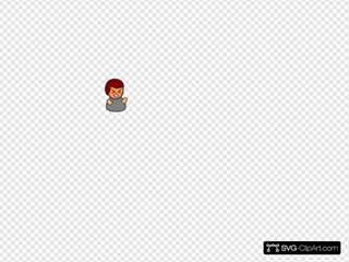 Angry Boy Red Hair SVG Clipart