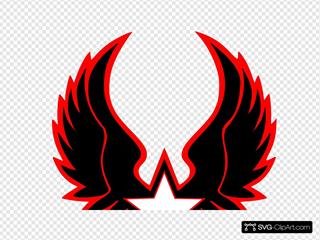 Red Grey Star Emblem 2 Clipart