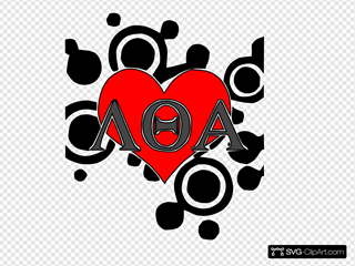 Heart With Greek Letters