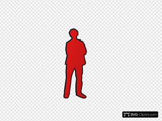 Person Outline - Red Black