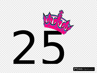 Pink Tilted Tiara And Number 25