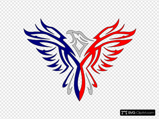 Fusion Eagle Red And Blue