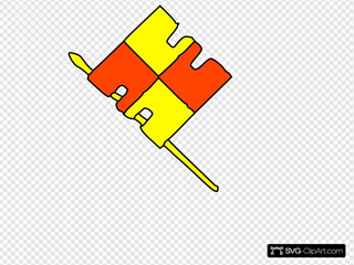 Red Yellow Flag Clipart
