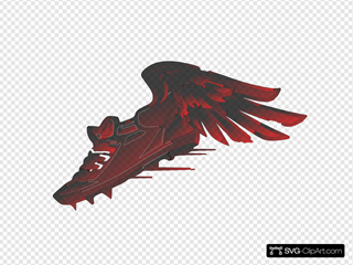 Winged Foot, Red And Black Gradient