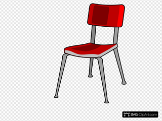 Red Student Desk Chair