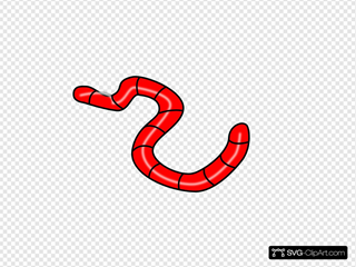 Red Earth Worm Clipart