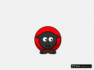 Sheep - Red On Red On Black Eyes To Down Right