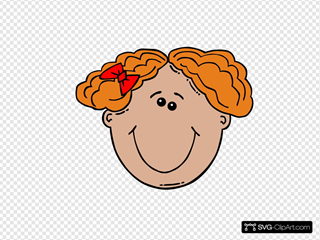 Red Haired Girl SVG Clipart