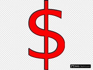 Red Dollar Sign