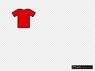 Red Shirt SVG Clipart
