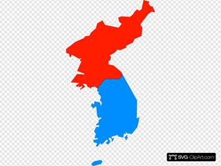 North & South Korea Map