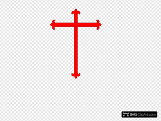 Red/black Cross SVG Clipart