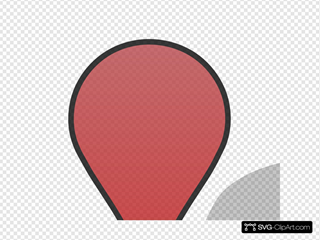 Red Pin Gradient Shadow Transparency