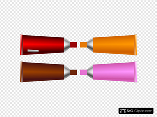 Color Tube Red Brown Orange Pink