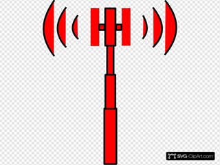 Red Wifi Tower