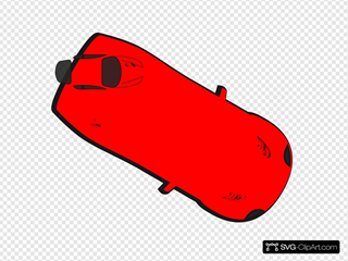 Red Car - Top View - 330