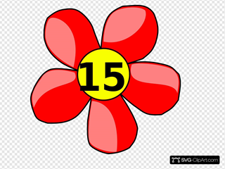 Counting Flower SVG Clipart