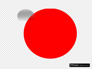 Glossy Red Circle Icon With 10 SVG Clipart