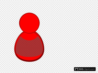 Red Person Icon SVG Clipart