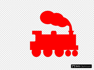 Train Silhouette SVG Clipart