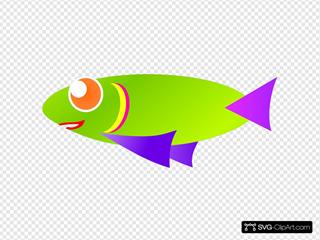 Orange Red Fish