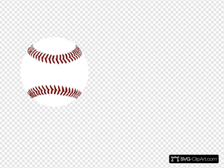 Red Baseball 2 Clipart