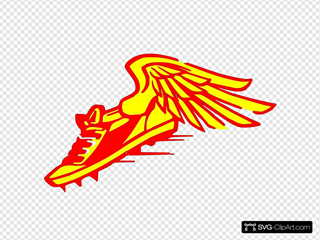 Winged Foot, Red And Yellow