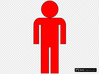 Outline Of Red Man
