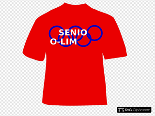 Red Senior O-limp-ics T Shirt - Bold Letteriing