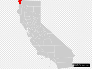 California County Map Del Norte County Highlighted SVG Clipart