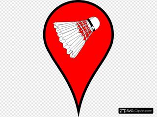 Map Pin Red Badminton