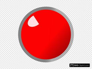 Slim Red Led On SVG Clipart