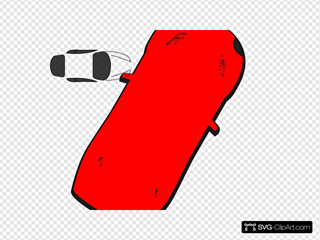 Red Car - Top View - 60