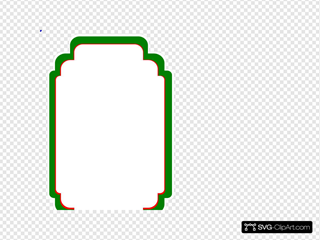 Wedding Label White Green Red