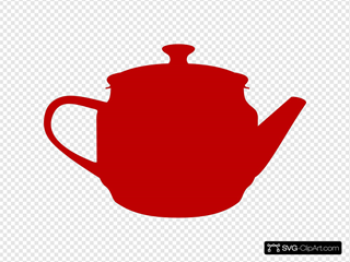 Red Teapot SVG Clipart