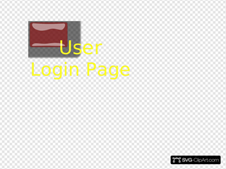 Red Rectangle User Login Button