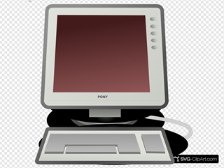 Computer With Red Screen
